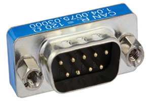 SUB-D9 Connector with two CAN Terminations